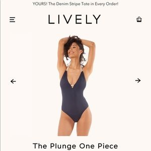 NWT Lively The Plunge One Piece Swimsuit Medium